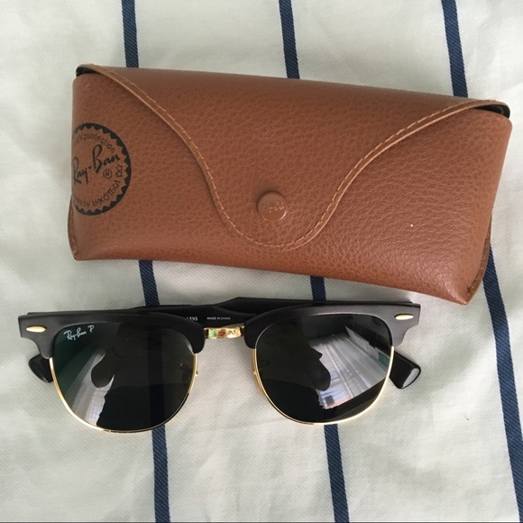 9fc6fad4f6c Polarized Ray-Ban Clubmaster Sunglasses